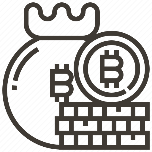 bag, banking, bitcoin, currency, finance, money icon