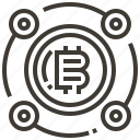 banking, bitcoin, cash, coin, currency, finance, money icon