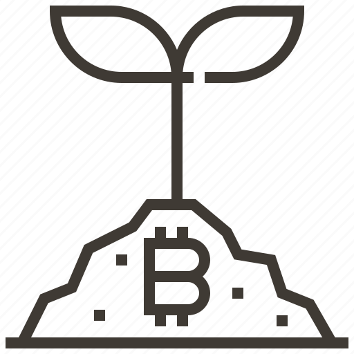banking, bitcoin, currency, finance, growth, money, tree icon