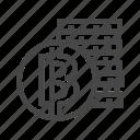 bicoin, bitcoin, cash, coin, cryptocurrency icon