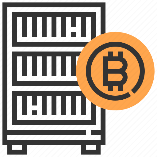 banking, bitcoin, cash, currency, finance, money, server icon