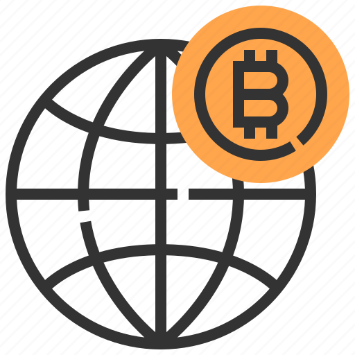 banking, bitcoin, currency, finance, global, money, world icon