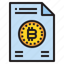 bitcoin, business, currency, information, money, report icon