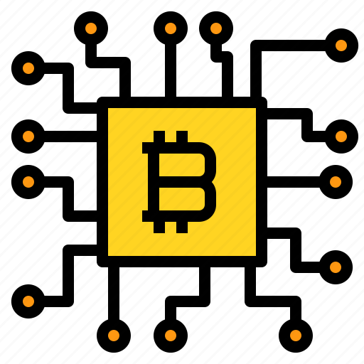 bitcoin, business, cpu, currency, mining, money icon
