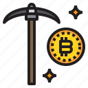 bitcoin, business, currency, dig, money icon