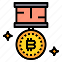 bitcoin, business, currency, money, reward icon