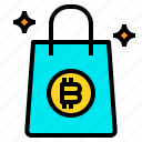 bag, bitcoin, business, currency, money, shopping icon