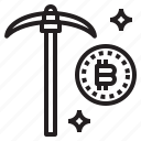 bitcoin, business, currency, dig, money