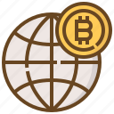 banking, bitcoin, coin, currency, finance, global, money icon