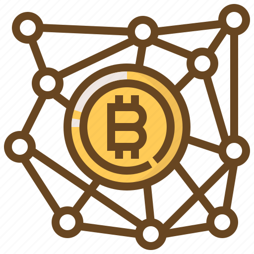 banking, bitcoin, connection, currency, finance, money, network icon