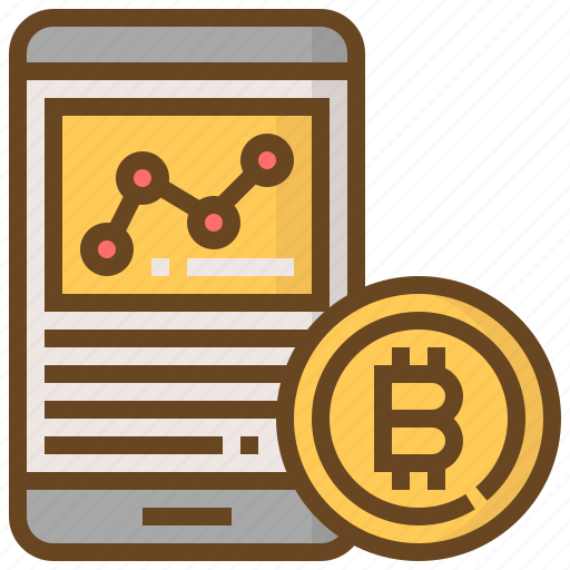 banking, bitcoin, currency, finance, graph, money, smartphone icon
