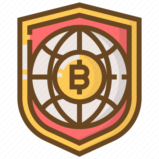 banking, bitcoin, currency, finance, money, protect, security icon