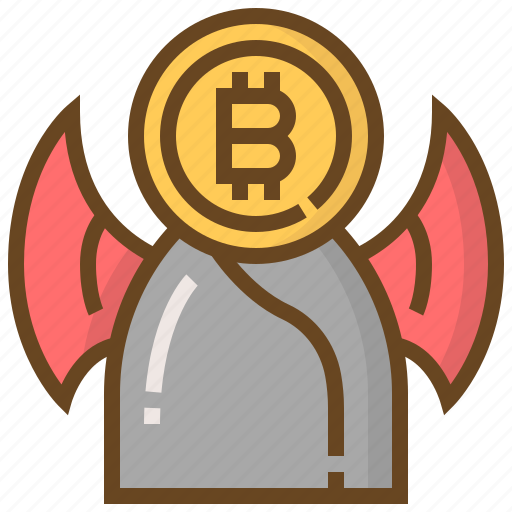 banking, bitcoin, currency, devil, finance, money, monster icon