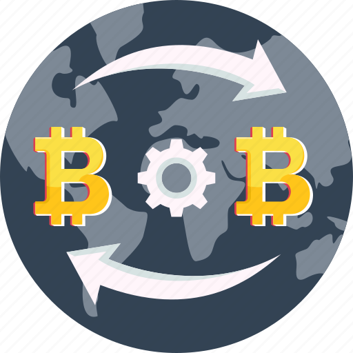 bitcoin, coin, cryptocurrency, global, international, transaction, transfer icon