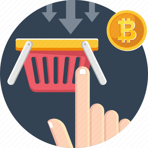 accepted, bitcoin, bitcoin accepted, cryptocurrency, currency, digital, shopping icon