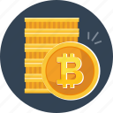 bitcoin, coins, cryptocurrency, currency, digital, money icon