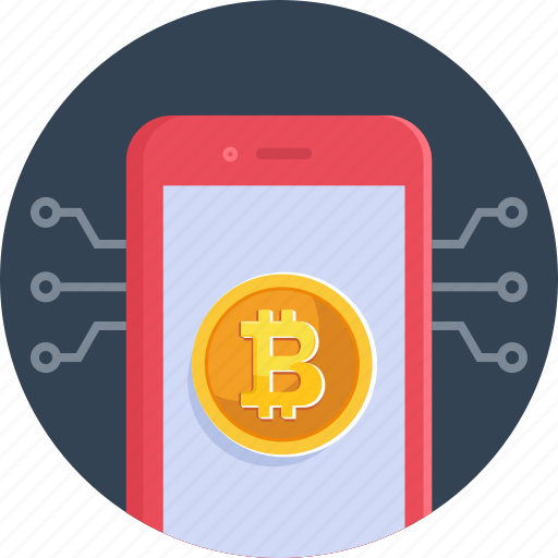 bitcoin, coin, cryptocurrency, currency, digital, mobile icon