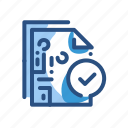 approve, complete, confirm, digital, document icon