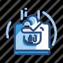 ecommerce, laptop, online, shopping icon