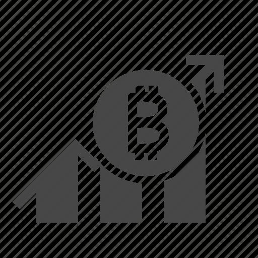 bitcoin, blockchain, crypto, currency, graph, money icon