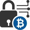 bitcoin, coin, cryptocurrency, encruption icon