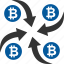 bitcoin, coin, cryptocurrency, mixer icon