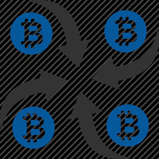 bitcoin, coin, cryptocurrency, mixer icon