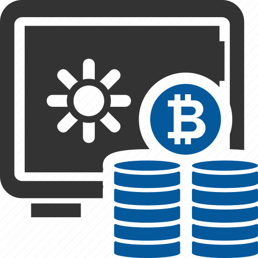 bitcoin, coin, cryptocurrency, storage icon