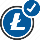 accepted, litecoin, bitcoin, coin, cryptocurrency