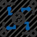 multi, signature, bitcoin, coin, cryptocurrency, multikey icon