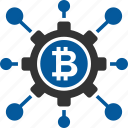 bitcoin, coin, cryptocurrency, node icon