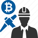 bitcoin, coin, cryptocurrency, mining, of, proof, work icon