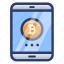 bitcoin account, bitcoin app, bitcoin login, bitcoin mobile payment, mobile cryptocurrency icon