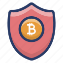 bitcoin antivirus, bitcoin protection, bitcoin trust, blockchain shield, cryptocurrency protection, cryptocurrency safety icon