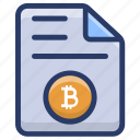 bitcoin data, bitcoin file, cryptocurrency document, cryptocurrency file, document icon