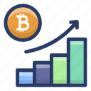 bar graph, bitcoin growth, cryptocurrency chart, cryptocurrency graph, dynamic bitcoin icon