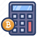 bitcoin accounting, bitcoin finance calculation, blockchain calculation, investment calculation, money calculation icon