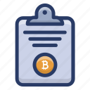 bitcoin data, bitcoin report, cryptocurrency document, cryptocurrency file, document, file icon