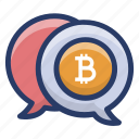 bitcoin communication, bitcoin message, cryptocurrency message, financial communication icon