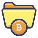 bitcoin folder, blockchain data protection, confidential files, cryptocurrency folder, data privacy icon