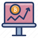 bar graph, bitcoin growth chart, cryptocurrency chart, cryptocurrency graph, dynamic bitcoin icon