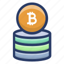 bitcoin stack, bitcoin wealth, currency stack, digital bitcoin savings, digital wealth icon