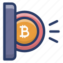 bitcoin payment, bitcoin transaction, blockchain deposit, blockchain transfer, cryptocurrency deposit icon