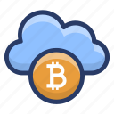 bitcoin cloud technology, bitcoin network, cloud blockchain, cloud computing, cloud cryptocurrency network, cloud hosting icon