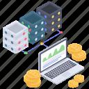 cryptocurrency analytics, data analytics, data infographic, online analytics, online statistics icon