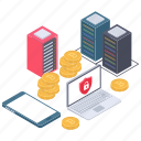 bitcoin security, blockchain protection, crypto protection, digital payment, safe payment icon