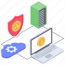 bitcoin management, bitcoin security, bitcoin settings, blockchain protection, cryptocurrency security, digital payment icon