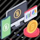 cryptocurrency analytics, data analytics, data infographic, online analytics online statistics icon