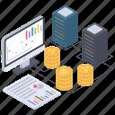 cryptocurrency analytics, data analytics, data infographic, financial data, online analytics, online statistics icon