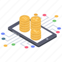 bitcoin business, bitcoin network, bitcoin technology, blockchain cryptocurrency, digital money icon
